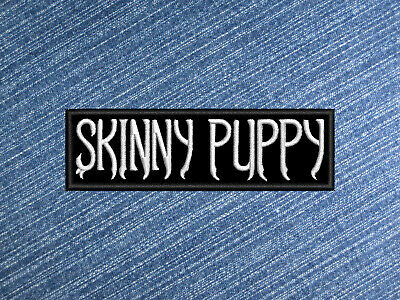 KMFDM band logo embroidered patch Ministry,Skinny Puppy free shipping Iron on