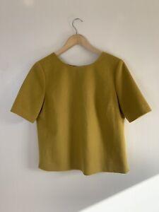 Hobbs-Wool-Yellow-Mustard-Lined-Top-UK-12
