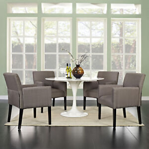 Modern Farmhouse Fabric Upholstered Dining Room Armchairs ...