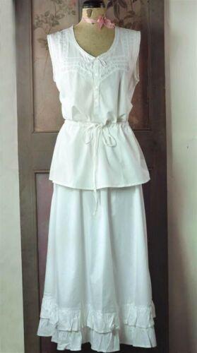 Victorian Trading Co Cotton Camisole /& Skirted Petticoat Slip L//XL