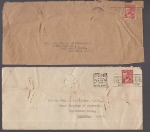 Australia-2-x-circa-1949-covers-addressed-to-Prime-Minister-Chifley