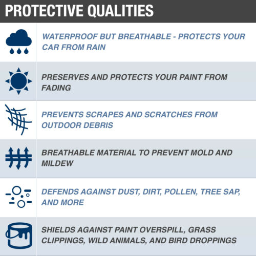 Budge Rain Barrier Car Cover Fits Mercury Comet 1963WaterproofBreathable