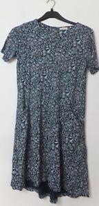 New Woman's FatFace Deep Teal Green Short Sleeve Round Neck Dress Size UK 8