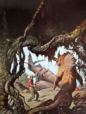 SAVAGE PELLUCIDAR Frank Frazetta Vintage Art 1974 Full Color Plate Fantasy GGA