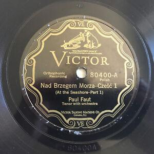 78-rpm-Record-PAUL-FAUT-Nad-Brzegem-Morza-VICTOR-VE-Polish-AT-THE-SEASHORE