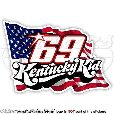 Nicky Hayden 69 Kentucky Kid America adesivo stickers motogp adesivi