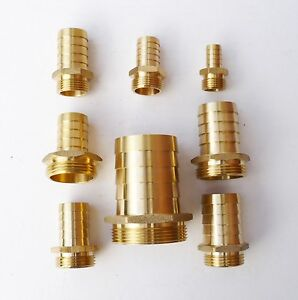 Solid-BRASS-Hose-Tail-Connector-to-Male-BSP-Thread-Pond-Pool-HosePipe-Adapter