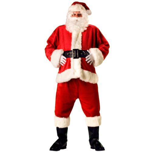 LUXURY PROFESSIONAL Babbo Natale Costume 8 pezzi con standard o Lunghezza 3//4 Giacca