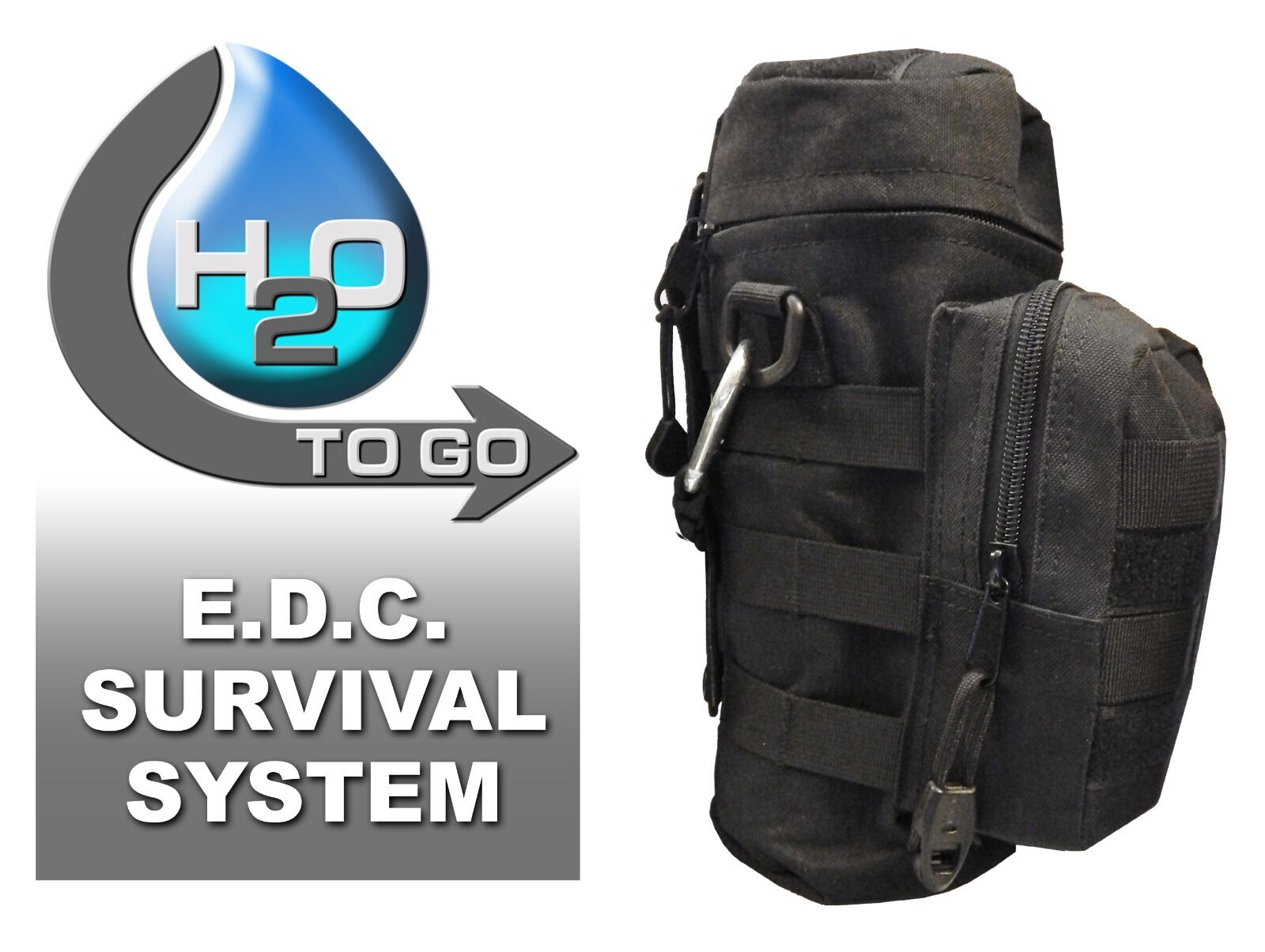 Discreet Prepper - H2O To Go E.D.C. Survival System - Light Weight