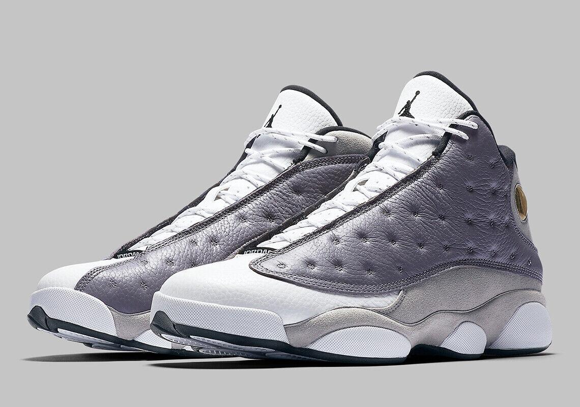 2019 Nike Air Jordan 13 Retro SZ 8.5 Atmosphere Grey White Black 414571-016