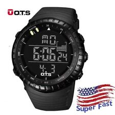 OTS LED Digital Men Climbing Outdoor Military Sports Watch Waterproof Wristwatch