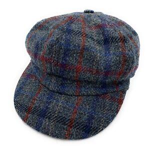 TARTAN TWEEDS Damen Harris Tweed Baker Boy Cap Made in UK