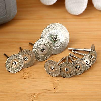 10Pcs MINI Diamond Cut Off Cutting Discs Set Fits Mini Rotary Tool Power Drills