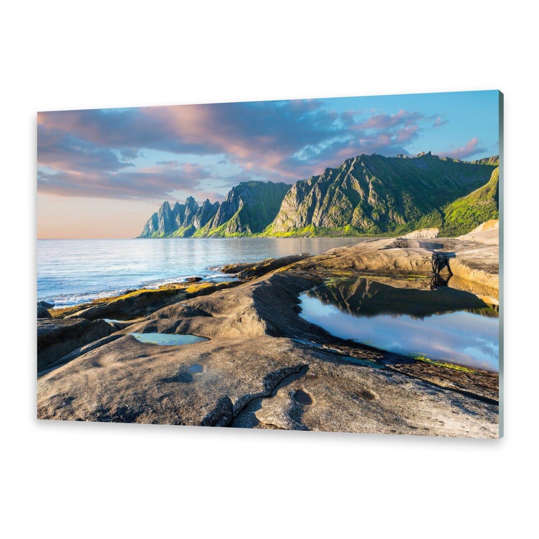 Acrylglasbilder Wandbild aus Plexiglas® Bild Berge Norwegen