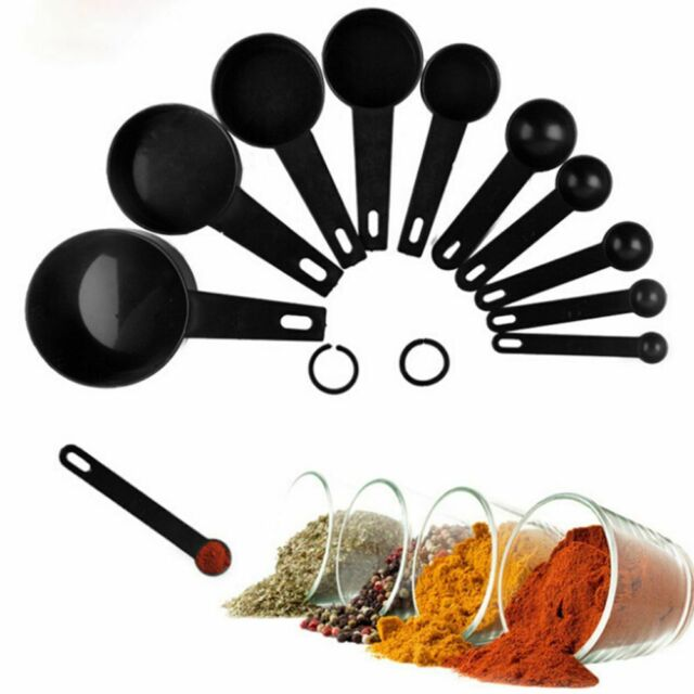 10pcs Plastic Measuring Spoons and Cups for Baking Tea Coffee Kitchen Tools Set