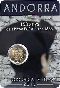 ANDORRA-2-Euro-2016-Aniv-Nueva-Reforma-de-1866-S-C-ANDORRA-2016-Reforme