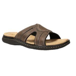 54a850d9e70 Men s Dockers SUNLAND 90-21398 Dark Brown Slip-on Slide Sandal Shoes ...