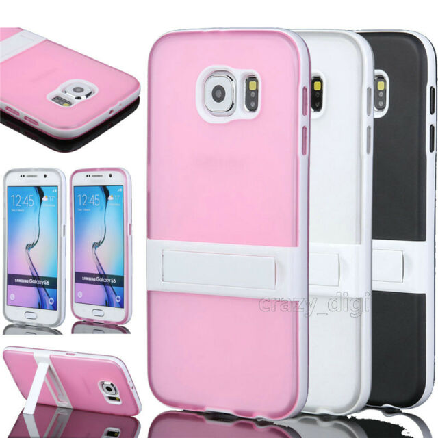 Ultra Slim Clear TPU Shockproof Matte Armor Stand Case Cover For Samsung Galaxy
