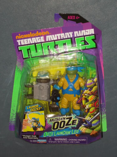 NEW 2012 TMNT Teenage Mutant Ninja Turtles OOZE LAUNCHIN/' LEO Action Figure