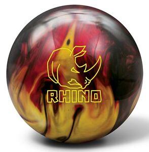 14lb-Brunswick-Rhino-Red-Black-Gold-Pearl-Reactive-Bowling-Ball-NEW