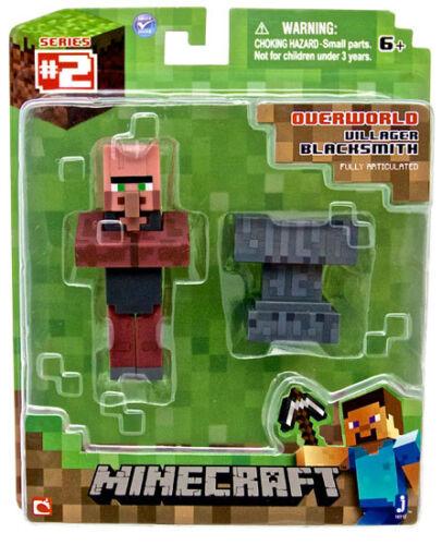 """Minecraft Overworld Villager FABBRI 3 /""""Figura-CASSONI Nuovissimo in scatola"""