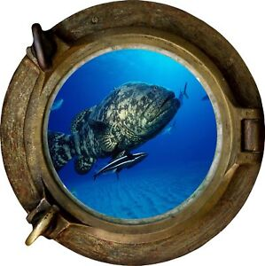 Huge-3D-Porthole-Big-Fish-under-sea-View-Wall-Stickers-Film-Decal-Wallpaper-461