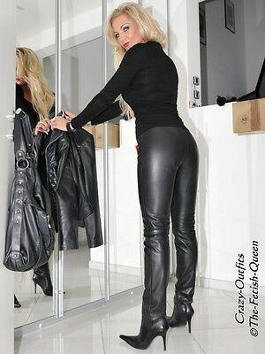 Lederhose Leder Hose Knalleng Schwarz Maßanfertigung