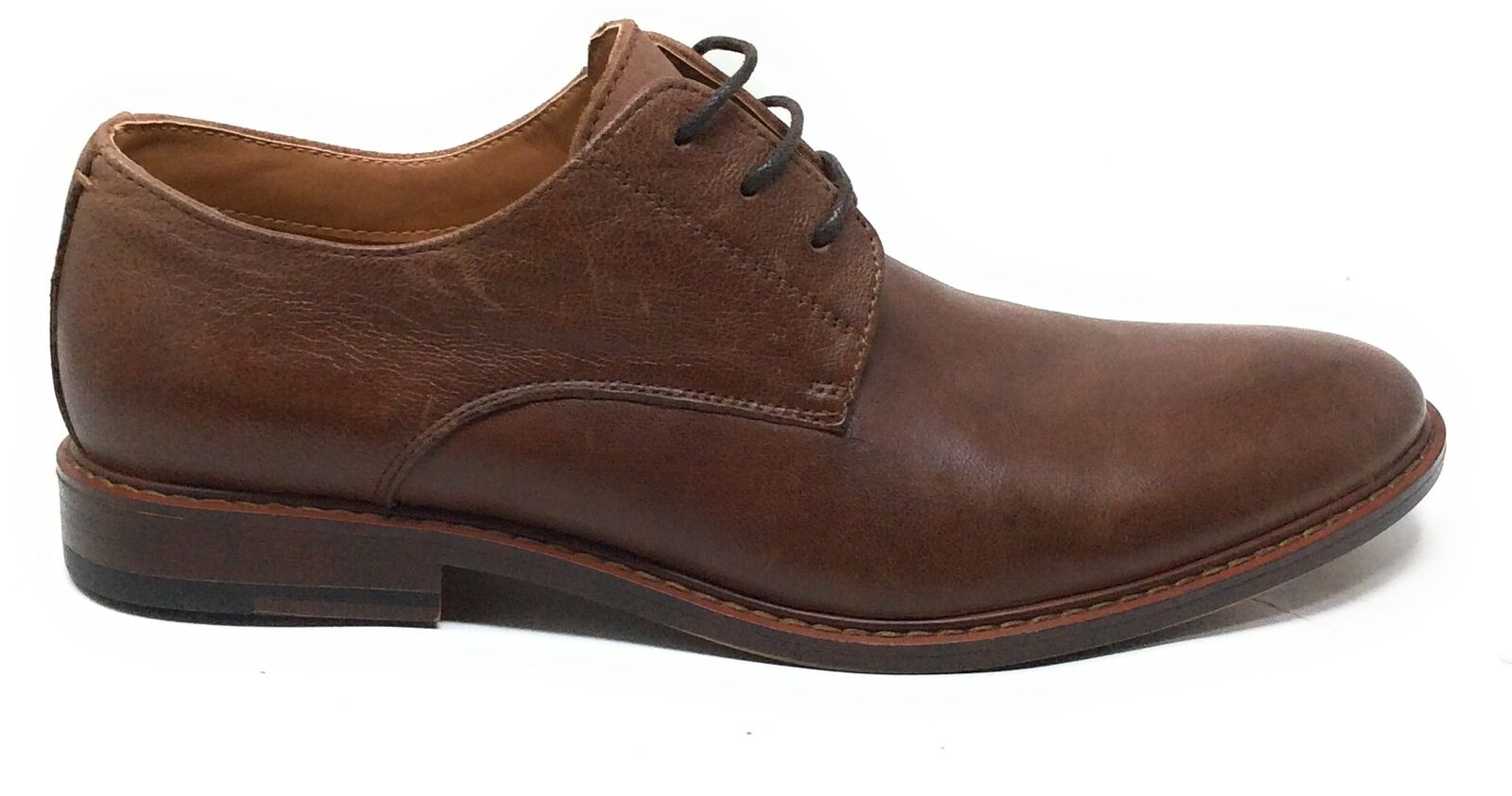 J75 By Jump Mens Primo Oxford Dress Shoes Dark Tan Leather Size 11 M