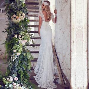 Sweetheart Lace Bohemian Wedding Dress Cap Sleeve Bridal Mermaid