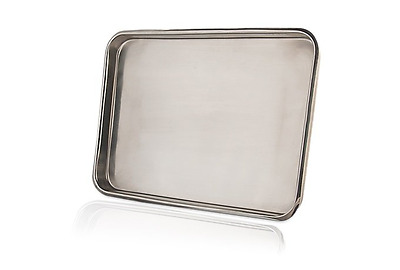 """Body Piercing Tools Medical Instruments Flat Tray Stainless Steel 13"""" x 9.5"""""""