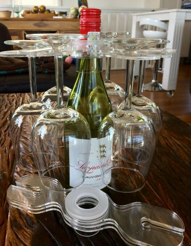 Wine glass table space saver