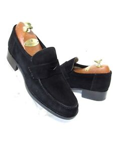 BALLY Black Suede Loafers Women's Shoes