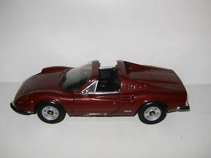 Rare Ferrari Dino 246 Gts Bordeaux / Burgandy Mattel Hotwheels Au 1/18