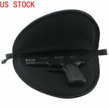 "Details about  /PISTOL RUG 12/"" Black Soft Padded Hand Gun Case Storage Zippered Pouch 4 Pockets"
