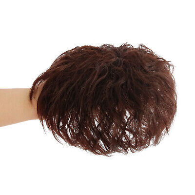 Women 100 Human Hair Extensions Short Curly Topper Hairpiece For Thinning Hair Ebay