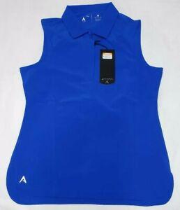 NEW-Antigua-Women-039-s-Sleeveless-Trust-Desert-Dry-Golf-Polo-Shirt-Blue-Size-M