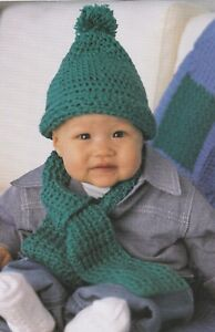 5d2638e0f8d Image is loading Crochet-Pattern-Baby-amp-Kids-Hat-Scarf-amp-