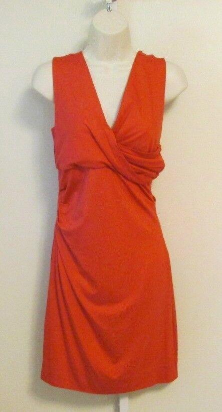 Diane von Furstenberg Parker jersey dress Red currant shift knit knit knit DVF S Small 2 4 8f531c