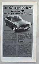 E272-Advertising Pubblicità-1975 - MAZDA 818