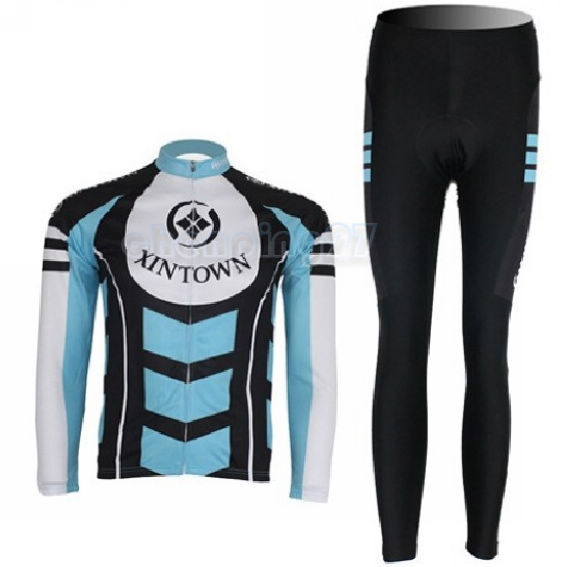 New Cycling Bike Bicycle Clothing Women Suit Long Sleeve Jersey + Pants S-XXL