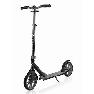 Globber-NL-500-205-Lightweight-Foldable-2-Wheel-Kick-Scooter-Black-and-Grey