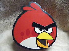 RED  Angry Birds Wood Trinket Box by Jacmel with  Mirror under Lid  Jewelry