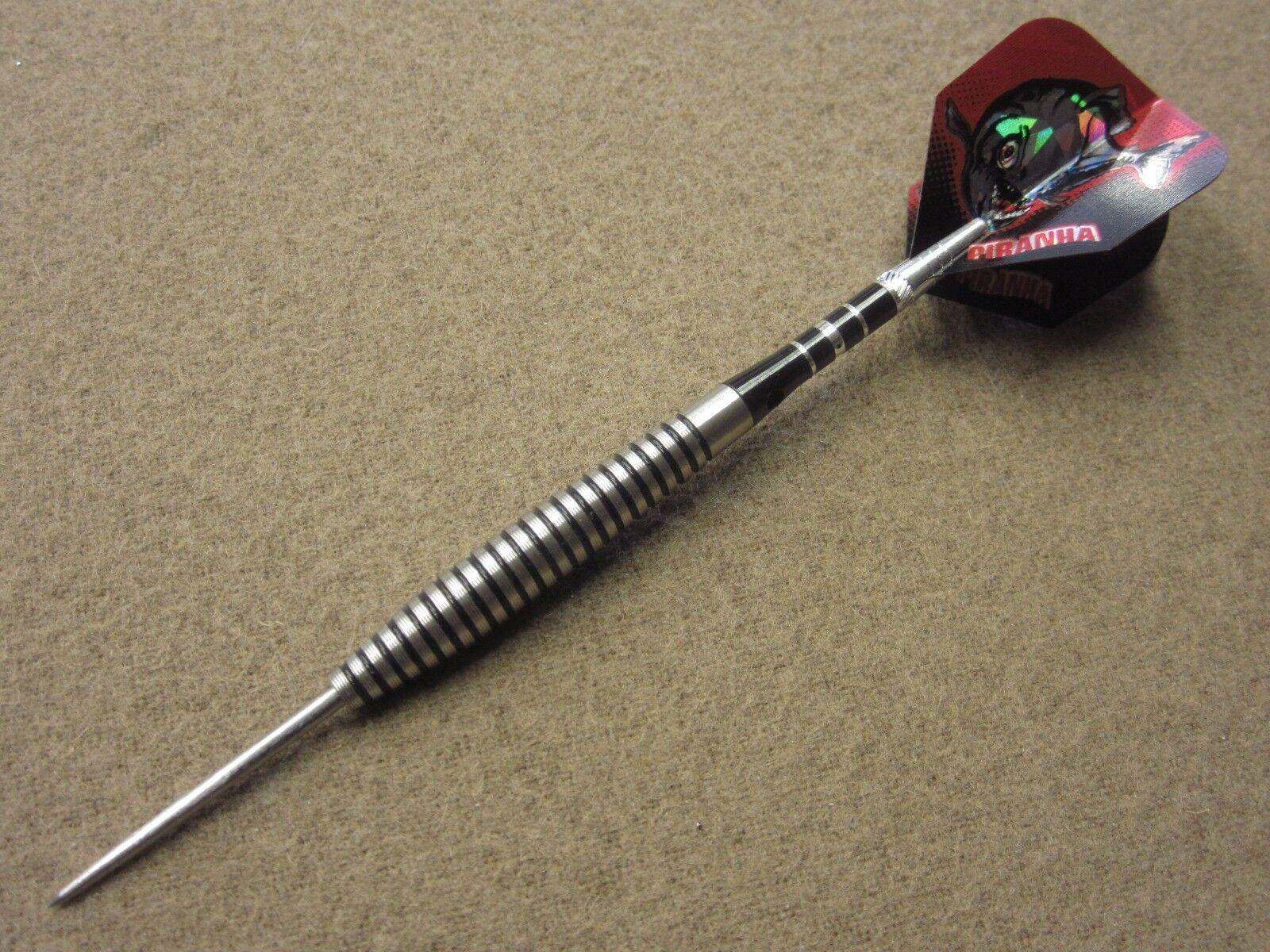 Piranha Razor Grip 27g Steel Tip Darts 90/% Tungsten 19511 w// FREE Shipping