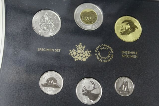 2017 Specimen Set of Coins (with 'Snow Goose' $1 Coin) (17974) (OOAK)