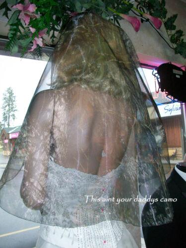 Custom Made in the USA CAMO Wedding Bridal Veil