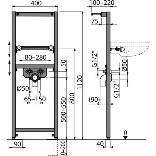 Bausatz WASCHTISCH Element WandScheiben Vorwand WT Trockenbau Vorwandelement