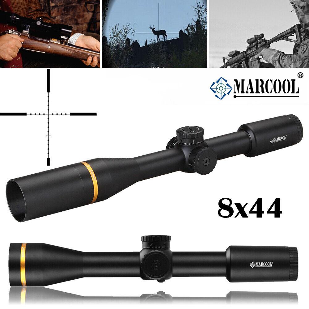 MARCOOL 8X44 caza rifle alcance retícula óptica vista Compacto Colimador Mil Dot