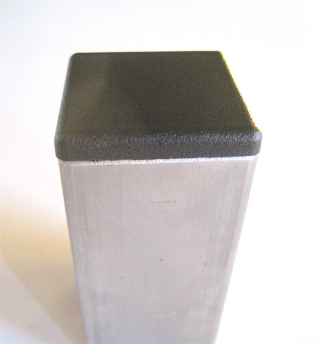 """10 Square Plastic Ribbed End Caps Plugs for 1/"""" X 1/"""" Outside Diameter Tubing 1x1"""