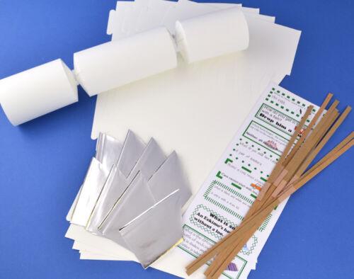 8 Jumbo Smooth White Make /& Fill Your Own Cracker Making Craft Kit