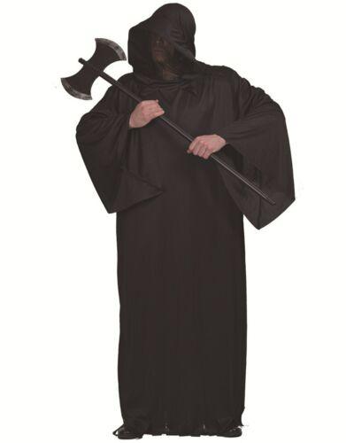 2019 Adults Mens Scary Horror Grim Reaper Black Halloween Costume Jumpsuit Prop